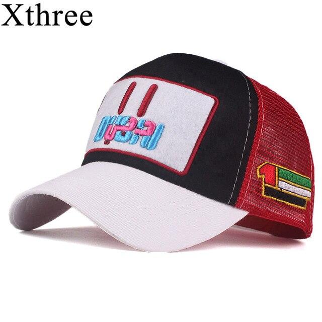 fd093cce801d Xthree New Summer Women Mesh DUBAI Baseball Cap Embroidery Cap Hat For Men  Girl Snapback Hat Gorra Hombre hat Casual Cap Dad Hat