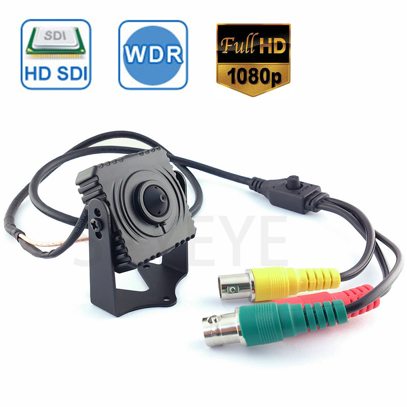 1080P SDI Cctv Camera 1/3 inch Progressive Scan 2.1 Mega Pixel Panasonic CMOS Sensor Mini SDI Camera HD SDI CCTV Camera Pin Hole mini hd sdi 1080p cctv surveillance video camera 2 1mp cmos full hd 1080p cheap mini hd sdi cameras with 3mp korea lens