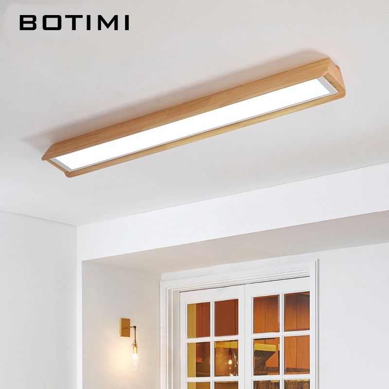 Ceiling Lights Fine Botimi New Design Led Ceiling Lights With Wood Frame For Bedroom 220v Modern Rooms Lighting Fixture White Round Ceiling Lamp A Great Variety Of Models