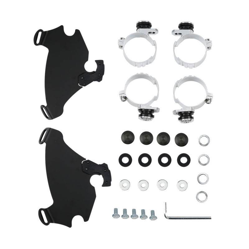 49MM Memphis Gauntlet Fairing Trigger Lock Mount Kit For Harley Dyna FXD FXDC Super Glide Low Rider Street Bob Custom FXD tcmt motorcycle gauntlet fairing 49mm mounting kit for harley dyna super glide custom low rider street bob fxd fxdc fxdl fxdi35