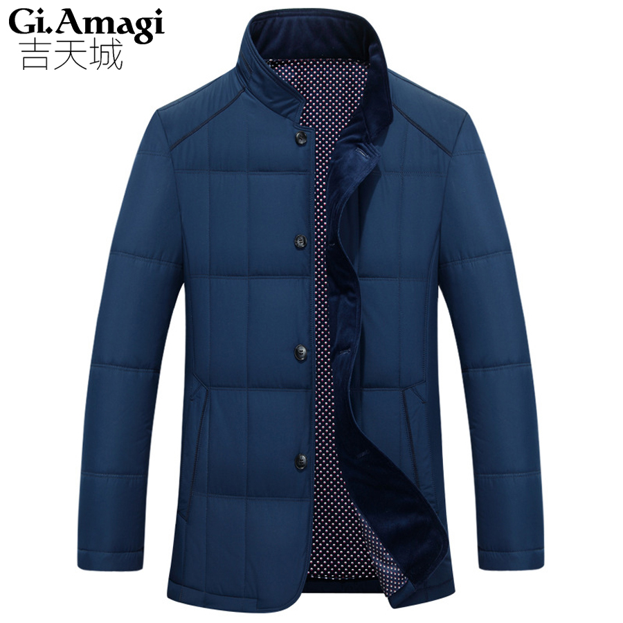 High quality Men Casual jacket Warm Winter Jackets men 's cotton business Coat Thick Parka Men outwear brand Clothing Plus size 2017 new fashion winter jacket men long thick warm cotton padded jackets coat parka overcoat casual outwear jacket plus size 6xl