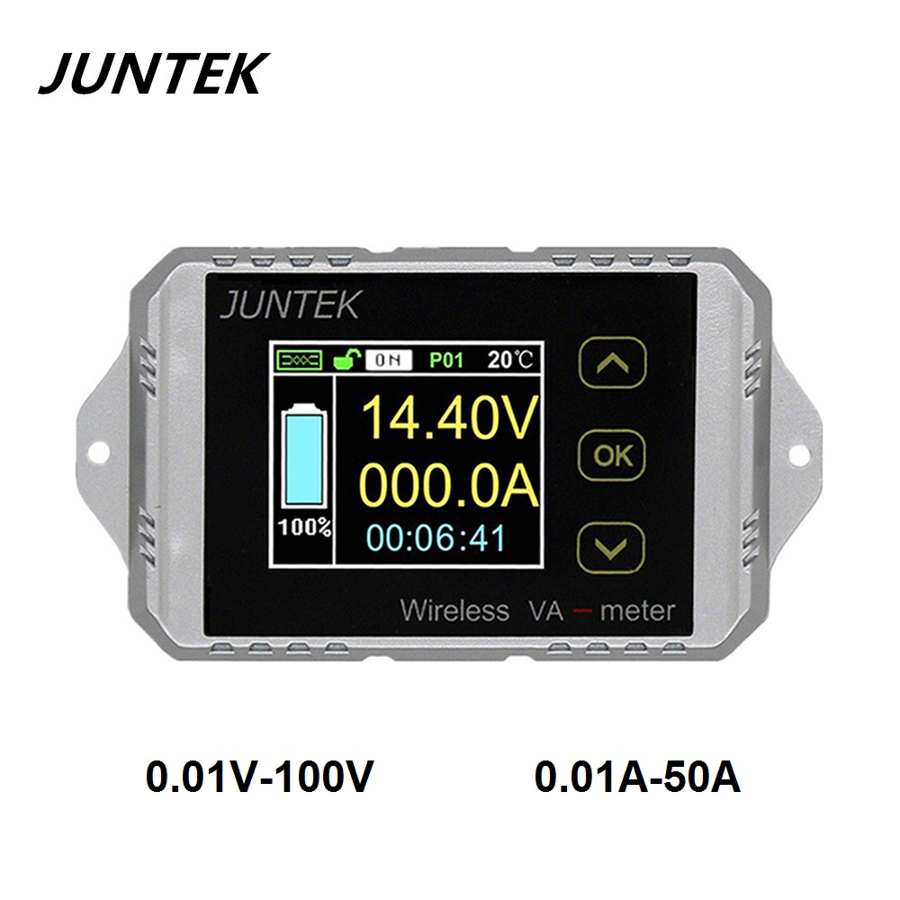 Temperate Juntek Vat1050 100v 50a Wireless Voltage And Current Meter Car Battery Monitoring 12v 24v 48v Battery Coulomb Counter Va Meter Battery Testers Measurement & Analysis Instruments