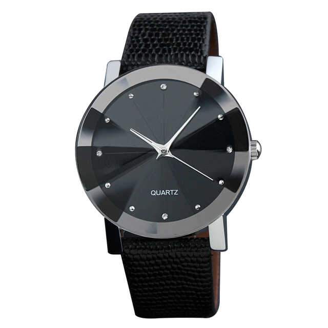 Brand Fashion simple lovers quartz women watches luxury clock leather strap casu