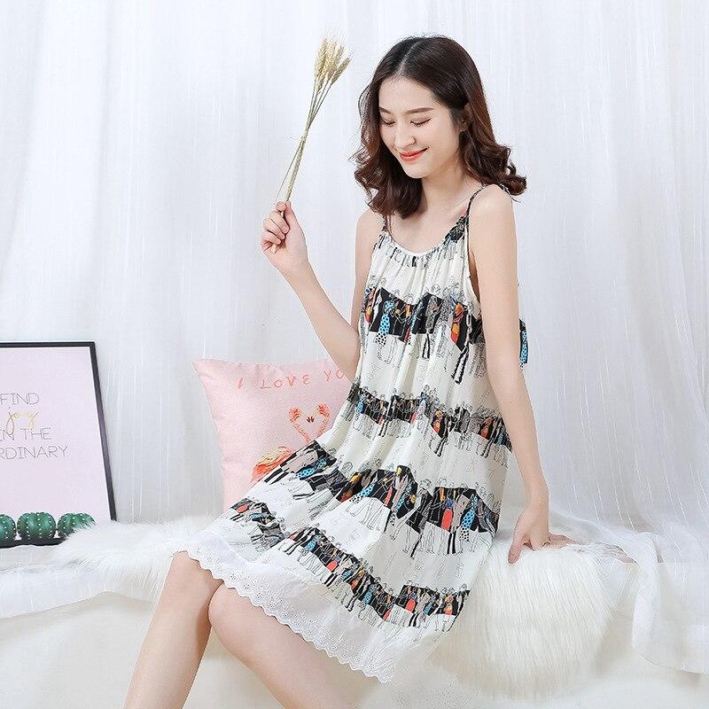 Sleeping Dress Ladies Nighties Indoor Clothing   Nightgowns   &   Sleepshirts   9713