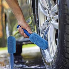 Автомобильная ручка оконные диски щетка для мытья шин автомобильная обода колеса кисть с пластиковой ручкой Чистка щеткой инструмент