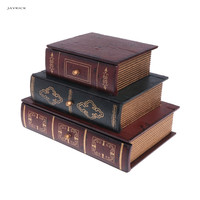 JAVRICK Wooden Jewelry Box Storage Box Desk Organizer Vintage Retro Book Design Gifts Jewelry Case