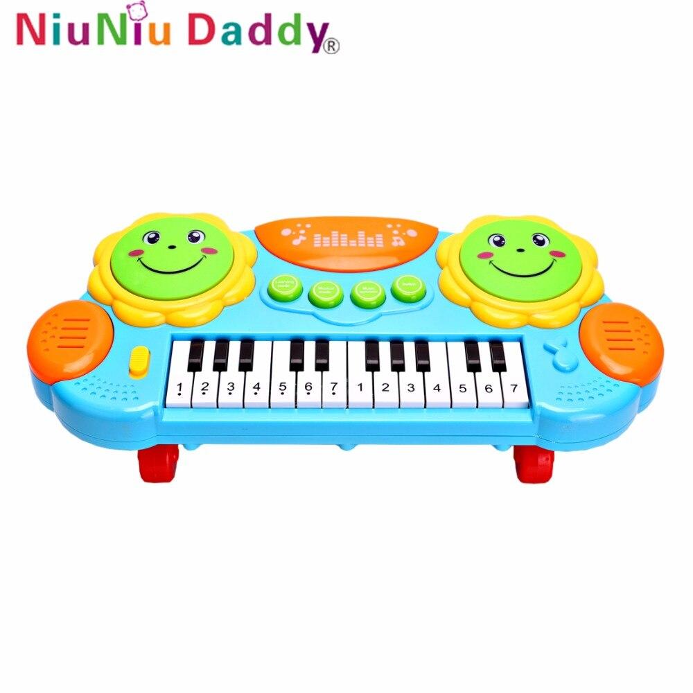 Niuniu papa enfants jouet de Piano électronique Instrument de musique lumineux jouets de développement précoce jouet éducatif enfant musique clavier