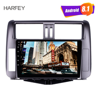 Harfey 9 inch Android 8.1 for Toyota Prado 150 2010 2013 Radio GPS System with 1024*600 Touchscreen Bluetooth Music support DVR