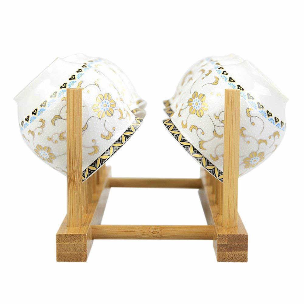 Étagère à vaisselle en bambou égouttoir à vaisselle égouttoir de séchage rangement armoires de cuisine organisateur accessoires couverts égouttoir à vaisselle étagère