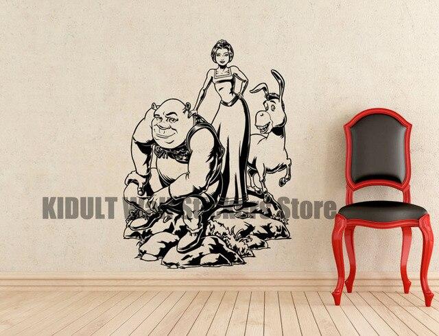 Gato burro y shrek famosos de a color papel de parede