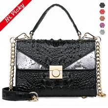 купить Bolsa Mujer Bags For Women 2019 Luxury Handbags Black Women Bags Designer Crocodile PU Leather Shoulder Messenger Bag sac a main по цене 1490.2 рублей