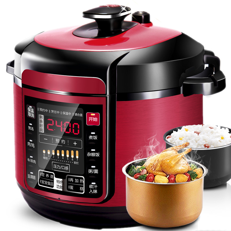 DMWD 5L Electric Pressure Cooker Intelligent Rice Cooker Saucepan 7 Gear 12 Menus 24 Hours Appointment Non-Stick Dual Pots 220V electric pressure cookers electric pressure cooker double gall 5l electric pressure cooker rice cooker 5 people