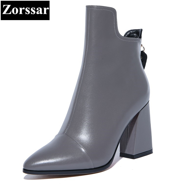 {Zorssar} 2017 NEW ladies big size shoes pointed Toe platform High heels ankle equestrian boots fashion womens shoes heels new 2017 spring summer women shoes pointed toe high quality brand fashion womens flats ladies plus size 41 sweet flock t179