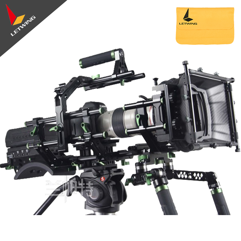 Lanparte PK-02 Pro DSLR Camera Complete Rig with Monitor & Follow Focus & Matte Box lanparte qrp 02 quick release plate for follow focus tripod camera dslr video rig