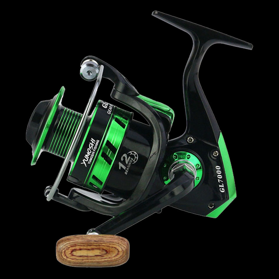 SPAZIERGANG FISCH 12BB 5,5: 1 Spinning Angeln Reel Fishing Rad für Salzwasser Metall Spool Angelrollen carpa molinete de pesca