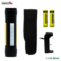 Mini Portable CREE Q5 Torch Rechargeable 18650 AAA LED Flashlight Warning Light With Strap Clip Magnet