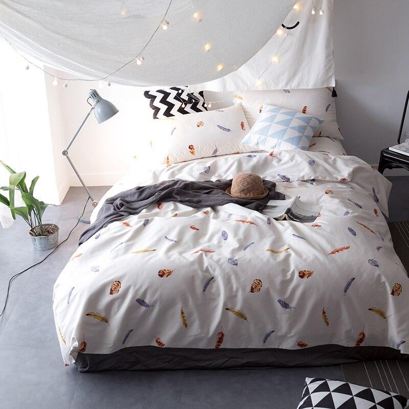 34pcs cartoon kids duvet cover set queen size 300tc satin cotton bedding set multi