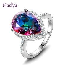 Женское кольцо из серебра s925 пробы мистический Радужный топаз