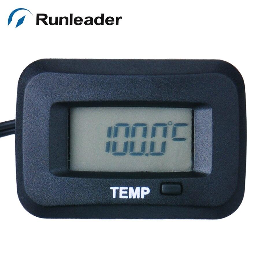 Runleader RL-TM006 цифровой TS003 PT100-20 + 250 TEMP датчик метр термометр измеритель температуры для мотоцикла Автобетоносмеситель дрель
