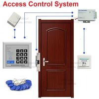 Door RFID ID/EM Access Control System Kit Electric Strike Lock +Power Supply+ Switch