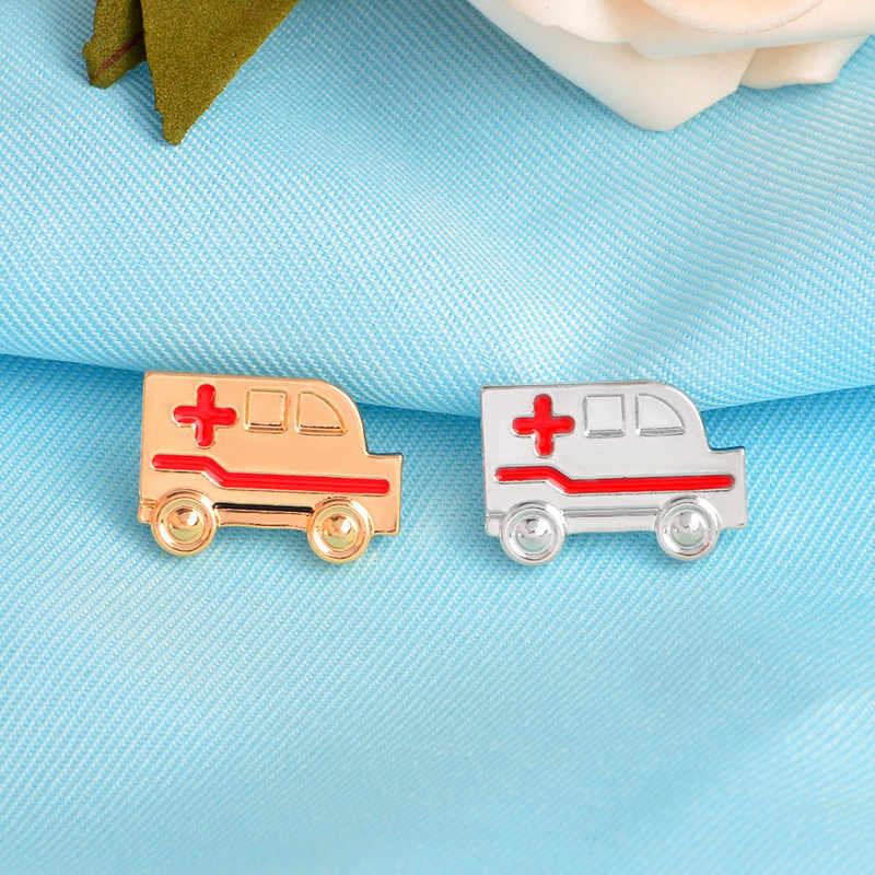 Logam Medis Jarum Doktor Lencana Test Tabung Palu Refleks Syringe Ambulans Tekanan Darah Meter Neuron Caduceus Usus Bros