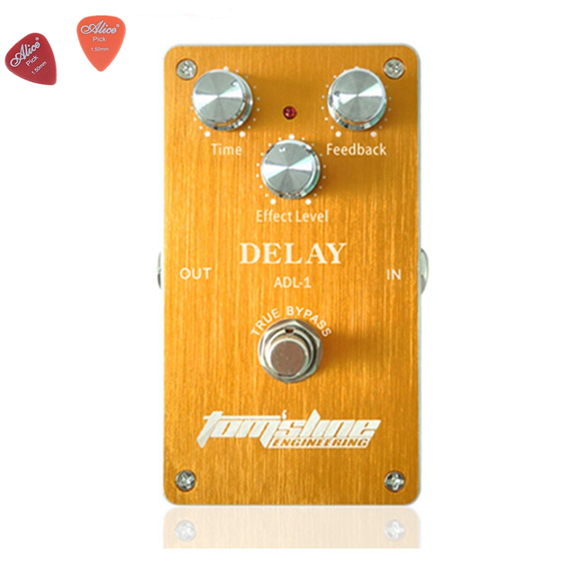 ADL-1 Delay Premium Analogue Guitar Effect Pedal Aroma Aluminum Alloy Pedals With True Bypass For Guitarists aroma effect pedals package sales classic chorus and analog delay guitar effect pedal integrant pedals for player free shipping