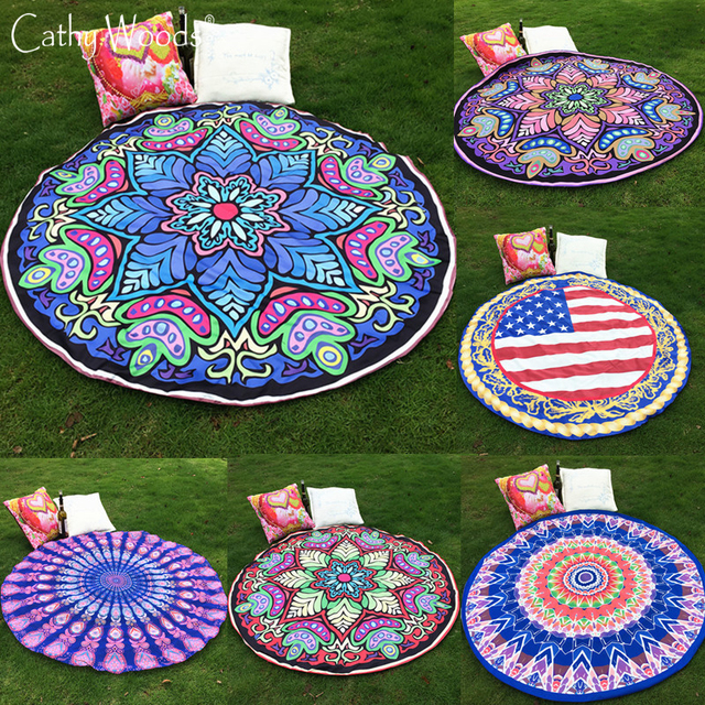 Mandala Bohemian Tapestry Mandala Roundie Cover Up Round Beach Pool Home Shower Towel Blanket Scarf Throw Yoga Mat Towel Hot New