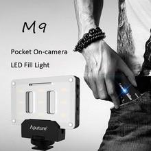 Aputure AL-M9 Pocket sized Tiny LED Video Light TLCI/CRI 95+ On-camera Fill Light 9pcs SMD Photographic Lighting