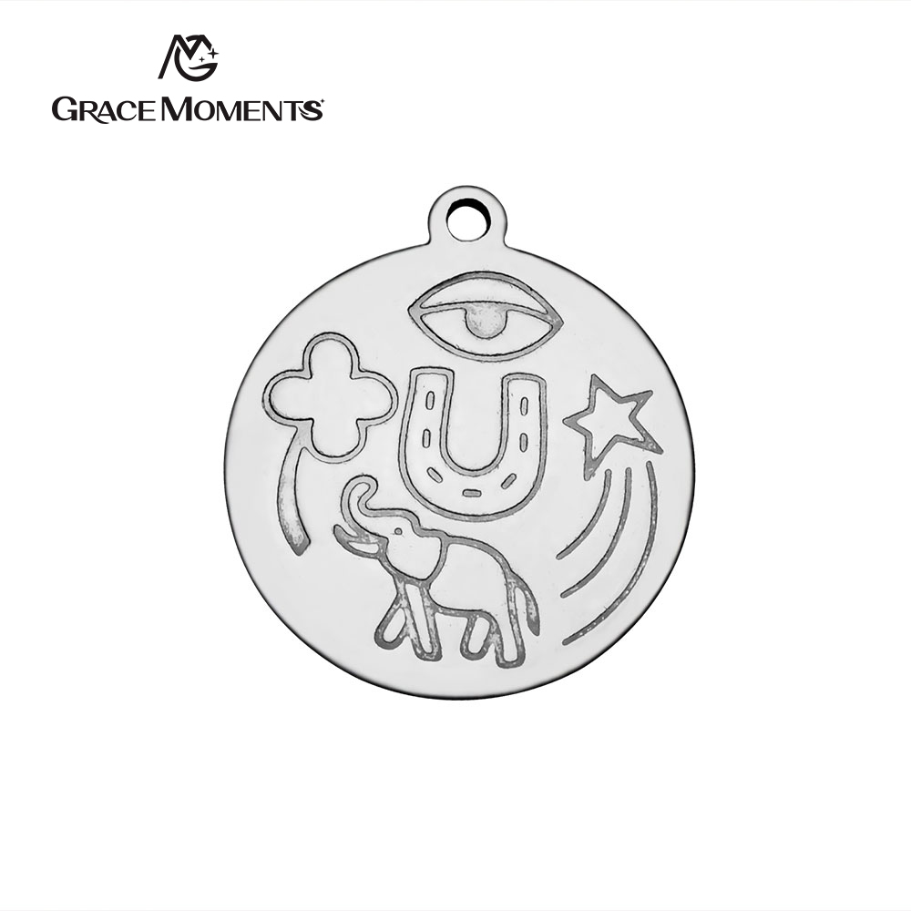 20pcs/Lot Stainless Steel Charms Good Lucky Sign Charms Pendants for Jewelry Making DIY Handmade Finding Women Wholesale