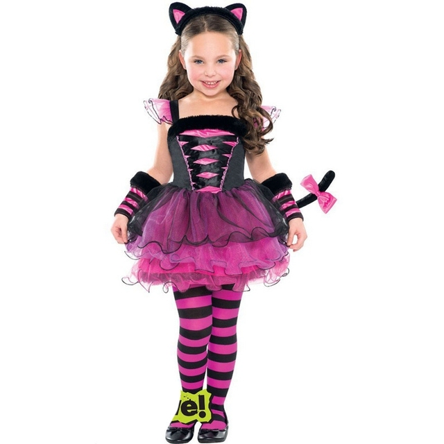Cute Cat Dress with Headband Pants 3PCS Girls Clothing Sets Christmas Costumes For Kids Party Clothes  sc 1 st  AliExpress.com & Cute Cat Dress with Headband Pants 3PCS Girls Clothing Sets ...