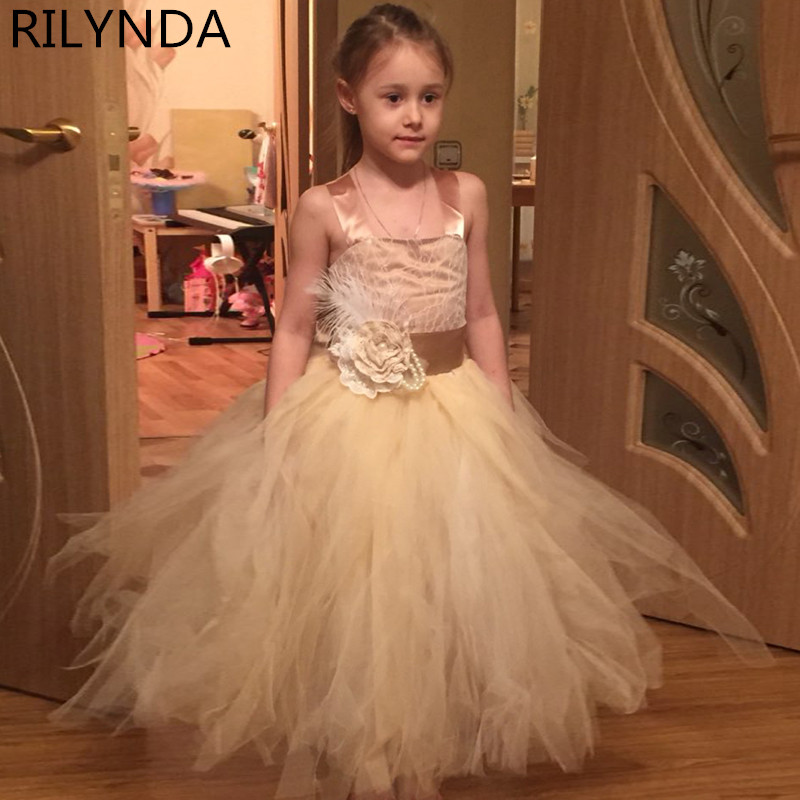 ФОТО Vintage Formal Communion Dress Square Collar Lace Up Appliques Sleeveless Tulle Ball Gowns Ruffle Pageant Flower Girl Dress 1-14