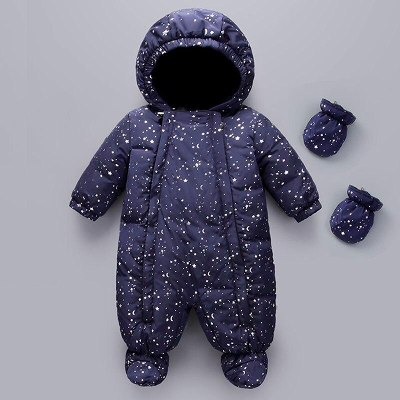От 0 до 2 лет Детские зимнее пальто детский зимний комбинезон утка вниз комбинезон боди Костюм Для мальчиков ясельного возраста одежда для д…