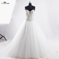 RSW850 Real Photo Wedding Dress 2016 Aalibaba Bling Bling Luxury Sexy Backless Wedding Dress