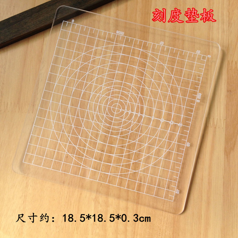1pcs Square Acrylic Transparent Stamp Pressure Clay Mud Ultra-light Clay Plate Tools Food Play Rub Beads DIY Pressure Tool