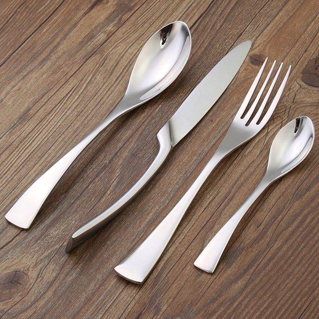 Top Selling Steak Knife Dinner Scoop Fork D Set Sliver Western Stainless Steel Cutlery Set Tableware & Top Selling Steak Knife Dinner Scoop Fork D Set Sliver Western ...