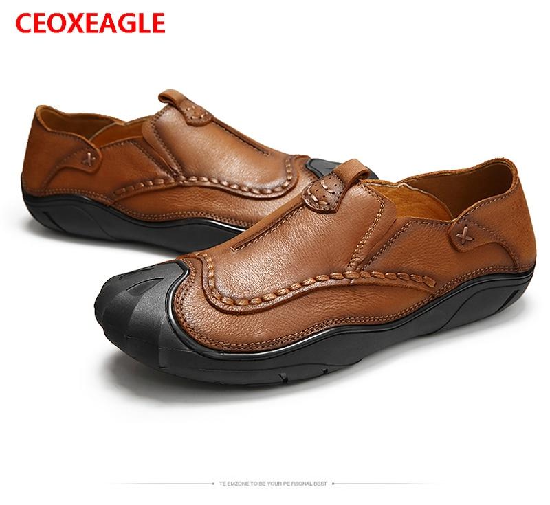 Et Appartements De Automne Hombre Chaussures Brown En Cuir Hommes Printemps Casual Style Véritable Zapatos khaki British Mocassins erxoWCdB