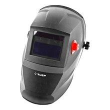 Маска сварщика ЗУБР 11075 (Автозатемнение, питание от солнечной батареи, степень затемнения 9-13 DIN, Скорость затемнения 1/25000 сек)