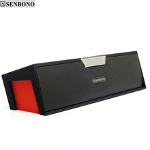 SENBONO SDY019 Portable Wireless Bluetooth Speakers  FM Radio Outdoor Louds with LED Time Display Alarm Clock Loudspeaker