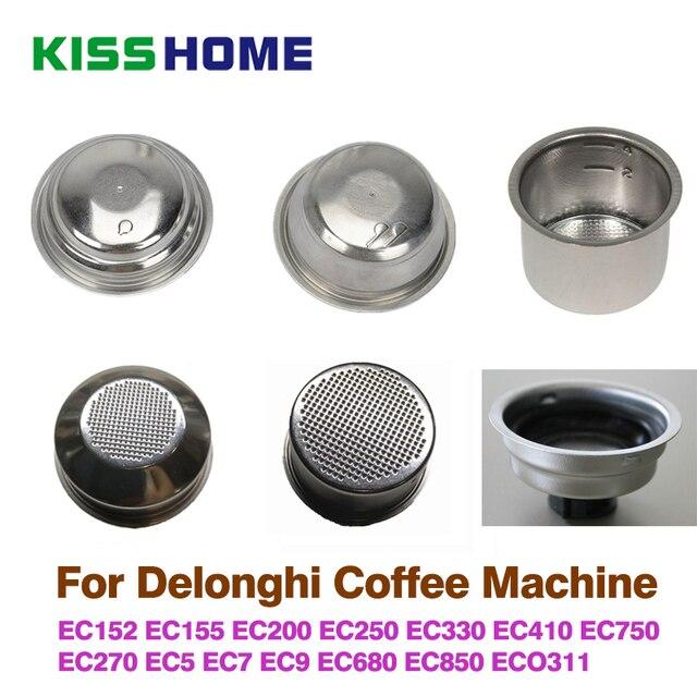 コーヒー 51 ミリメートルシングル/ダブル層フィルターバスケット delonghi コーヒーマシンユニバーサルパウダーボウル半自動コーヒーアクセサリー
