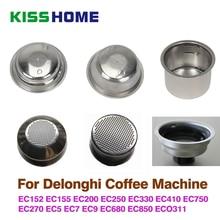 Kaffee 51mm Single/Doppel Schichten Filter Korb Für Delonghi Kaffee Maschine Universal Pulver Schüssel Halbautomatische Kaffee Zubehör