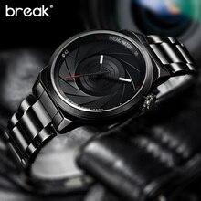 Break hombres de la marca de lujo única de moda casual sport rubber band fotógrafo serie relojes de cuarzo reloj creativo del regalo para las mujeres