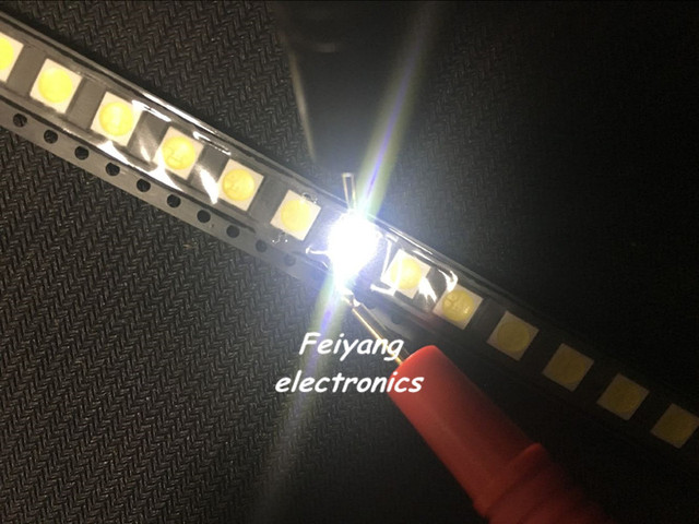 100pcs 5050 White/warm white/Blue/Green/RED/YELLOW SMD/SMT LED 5050 smd led 60MA 10-18LM 0.2W