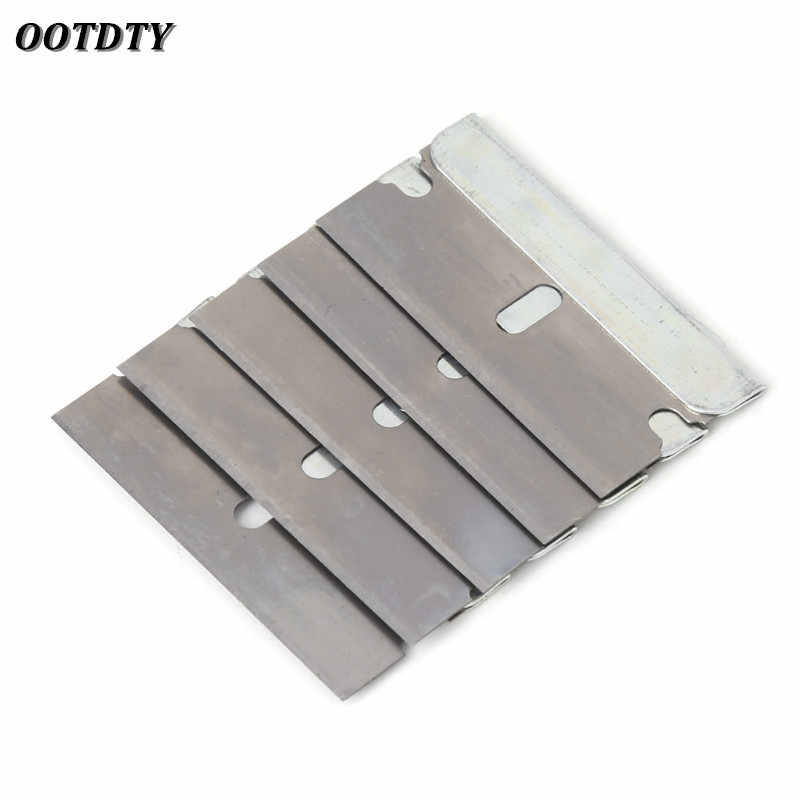 OOTDTY 5Pcs Ceramic Glass Oven Window Tinting Razor Scraper Stainless Steel 1.57 inch Blade