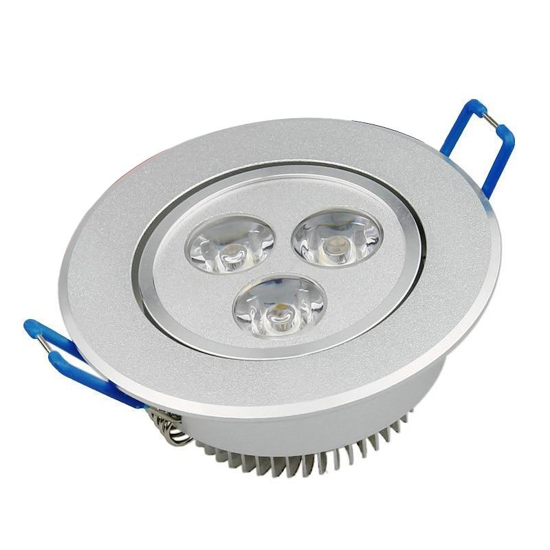 3 x 3W 270 Lumens 2800K -3000K Warm White Led Spot Light Spotlights Lamp Ceiling Energy Saving Set zhishunjia 3w 240lm 3000k 3 led warm white light ceiling lamp silver ac 85 265v