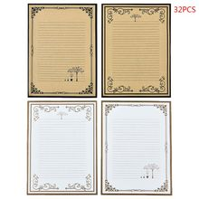 Buy 32pcs/pack Retro Writing Letter Stationery Romantic Creative Chinese Style Lace Letterhead Note Paper directly from merchant!