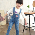 2016 New Arrival Spring Denim Girl Overalls Baby Girls Bib Pants Children Casual Suspender Trousers Jeans One Piece