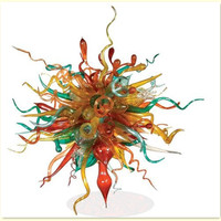 Colorful Murano lustre de vidro soprando bolha lustre para sala de estar