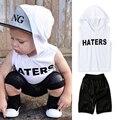 Лето Мальчики Одежда 2017 Новый Baby Boy Одежда Set Pattern Письмо Малышей Мальчики Одежда Плед Детская Одежда Детская Одежда Набор