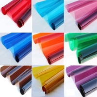 Vitray Filmi 70 cm * 100 cm 12 Renk Rulo Araba Cam Cam Filmi Tonu Ev Dekorasyon Cam Filmi pencere Çıkartmalar