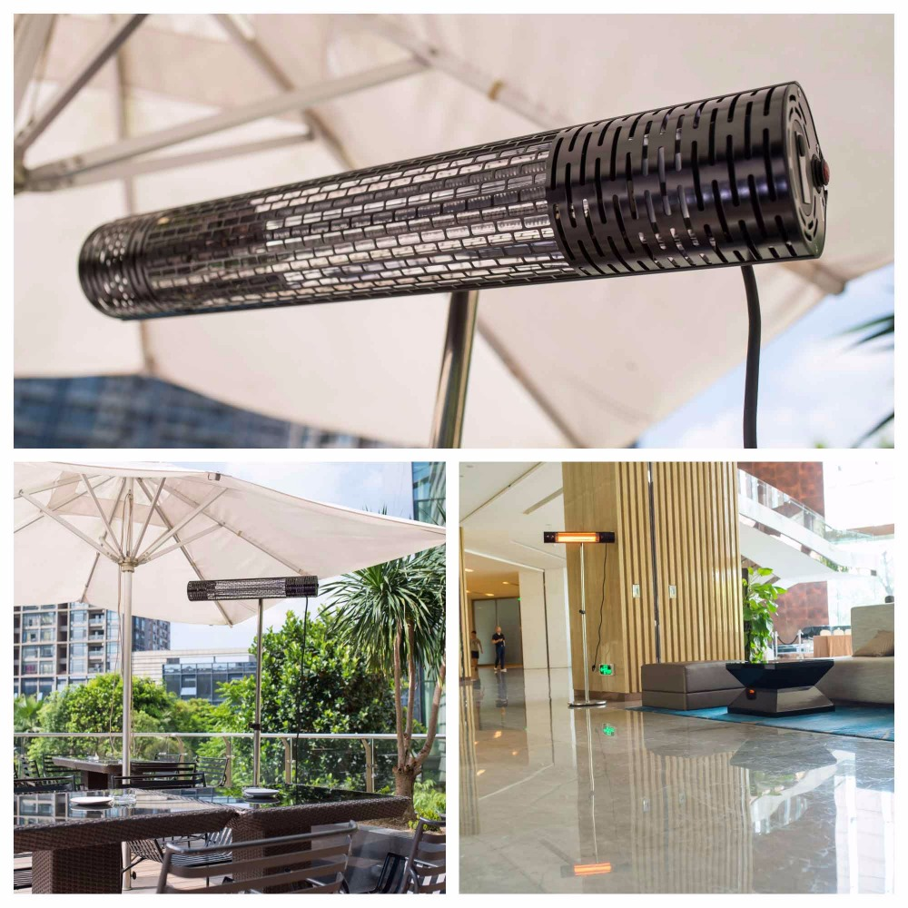 Outdoor Infrared Patio Heater 2000W Ceiling Mounted Electric Strip Heater